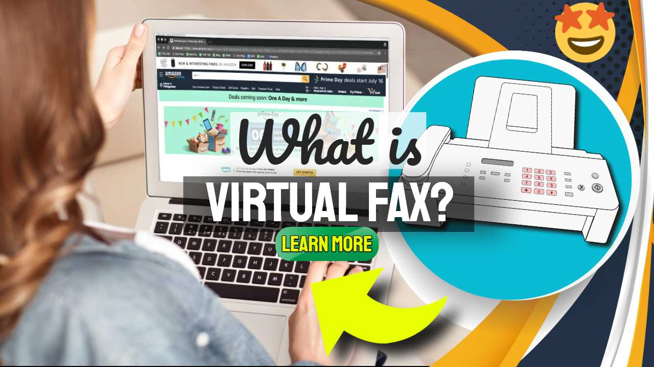 "Featured image text: ""What is virtual fax?""."