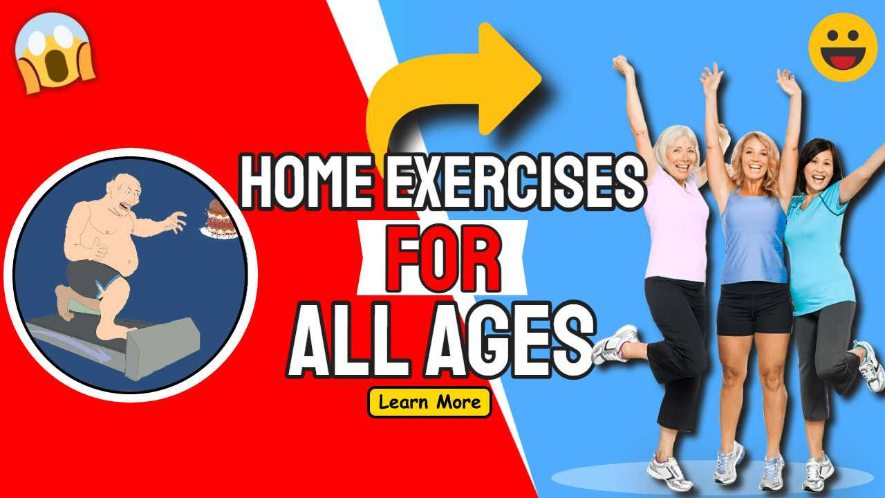 "Featured image text: ""Home Exercises for all ages""."