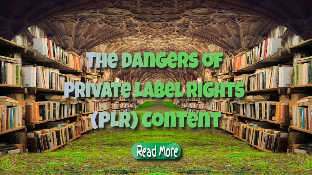 the dangers of plr